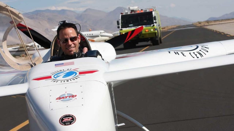 Chip Yates electric airplane speed record