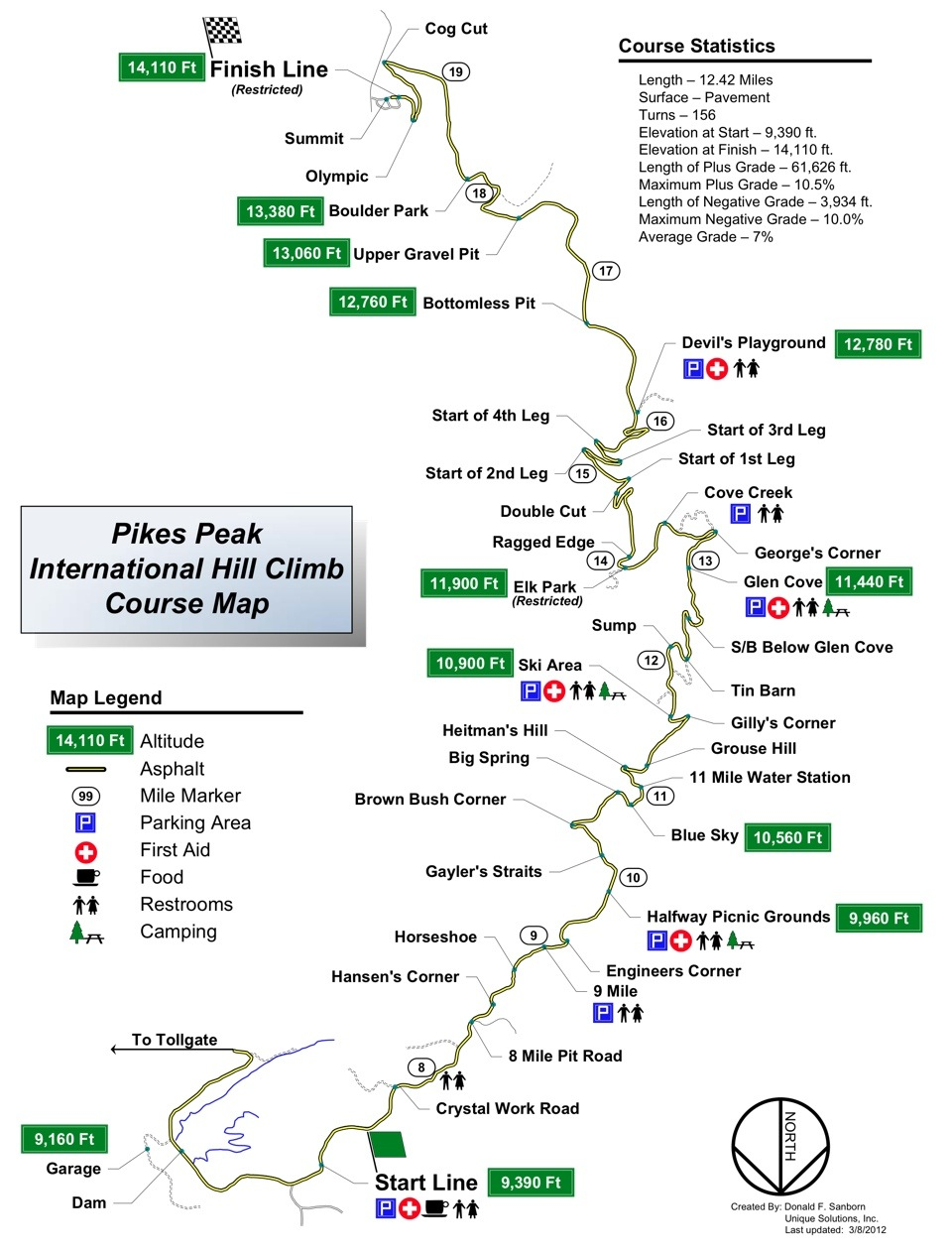Pikes Peak 2012 map