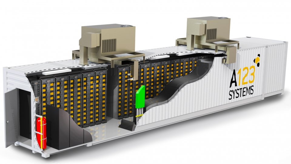 A123 Systems energy storage system cutaway